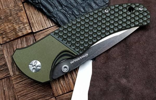 Фото 5 - Нож складной Boker Magnum Three Dimensions, сталь 440A 2-Tone Stonewash Plain, рукоять стеклотекстолит G10, 01MB717