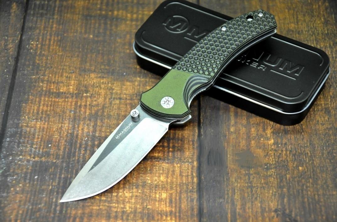 Фото 6 - Нож складной Boker Magnum Three Dimensions, сталь 440A 2-Tone Stonewash Plain, рукоять стеклотекстолит G10, 01MB717