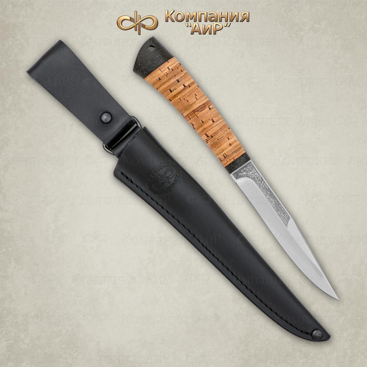 Нож разделочный АиР Заноза, сталь 100х13м, рукоять береста нож разделочный белуга береста аир