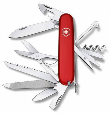 Нож перочинный Victorinox Ranger 1.3763 91мм 21 функция красный - Nozhikov.ru