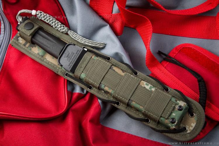 Фото 19 - Тактический нож Croc D2 Satin+SW, Кизляр от Kizlyar Supreme