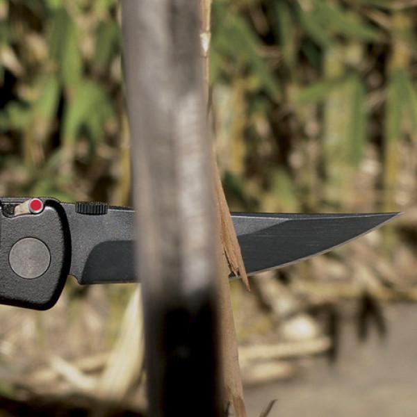 Фото 4 - Полуавтоматический складной нож Hissatsu Folder, CRKT 2903, сталь AUS-8 Black Finish, рукоять термопластик GRN