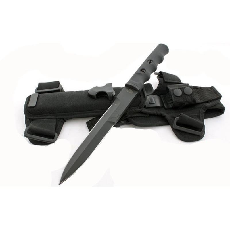Нож с фиксированным клинком Extrema Ratio C.N.1 Black (Double Edge) Limited Edition, сталь Bhler N690, рукоять пластик