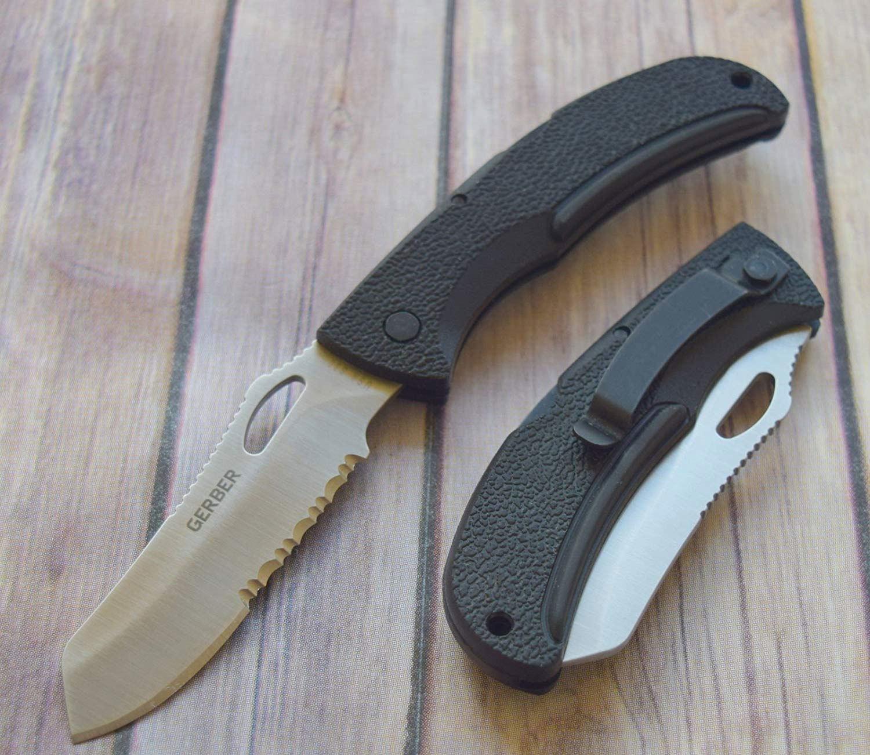 Фото 7 - Складной нож Gerber E-Z Out Satin, сталь CPM-S30V, рукоять термопластик GRN