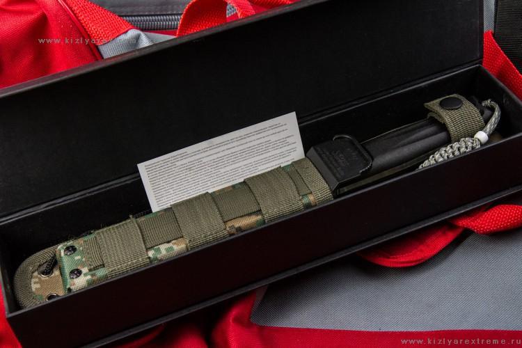 Фото 20 - Тактический нож Croc D2 Satin+SW, Кизляр от Kizlyar Supreme