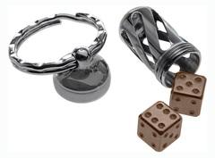 Брелок-капсула с игральными кубиками Acorn Dice Bronze Titanium, Lion Steel, Нержавеющая сталь AISI 440, бронза, L/DD TiBr, фото 4
