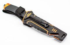 Нож для выживания с огнивом и точилкой Ganzo G8012, черно-оранжевый