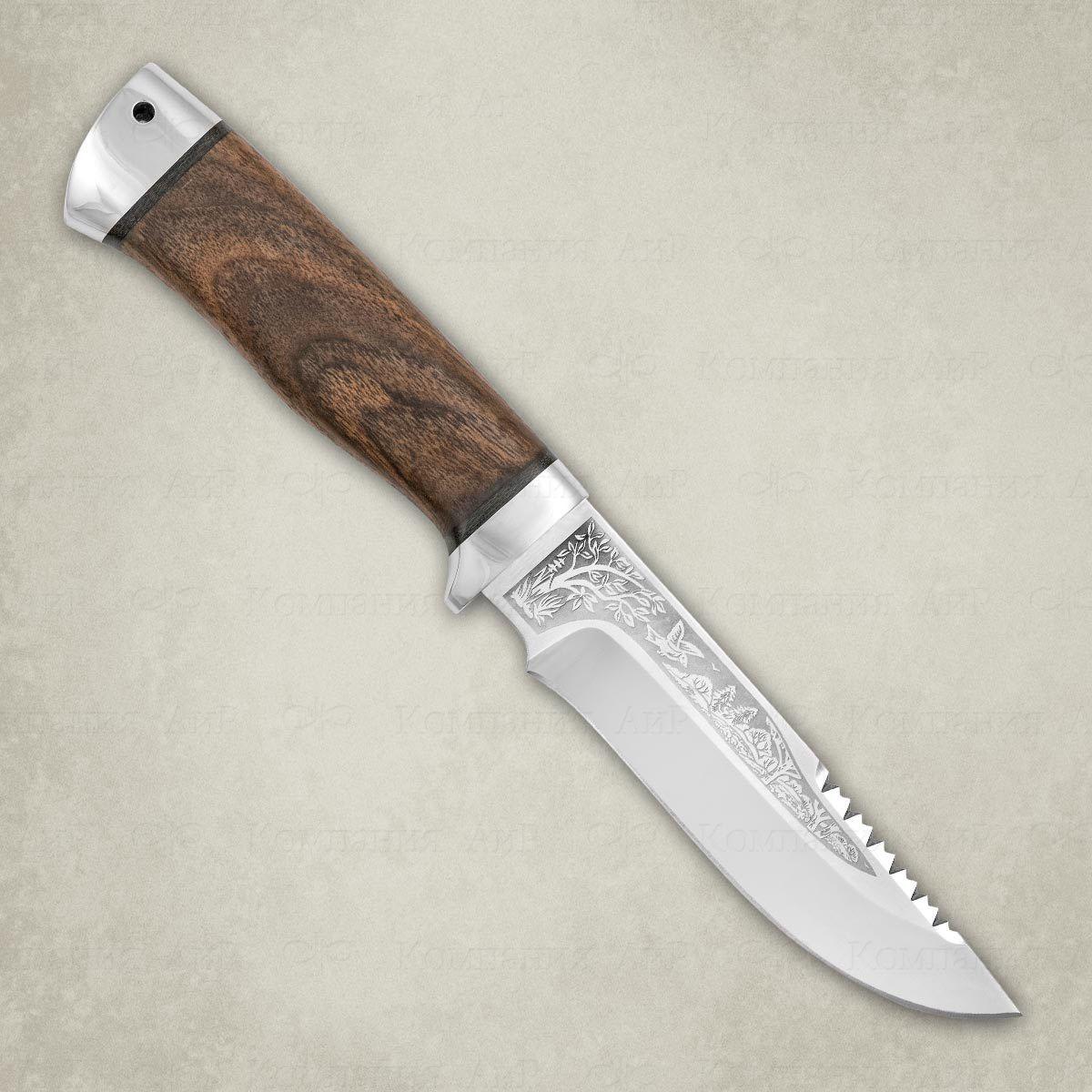 Фото - Нож АиР Стрелец, сталь Elmax, рукоять дерево складной нож wild west сталь elmax рукоять карбон