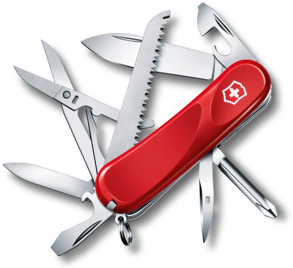 Нож перочинный Victorinox Evolution 18 2.4913.E 85мм 15 функций красный цена