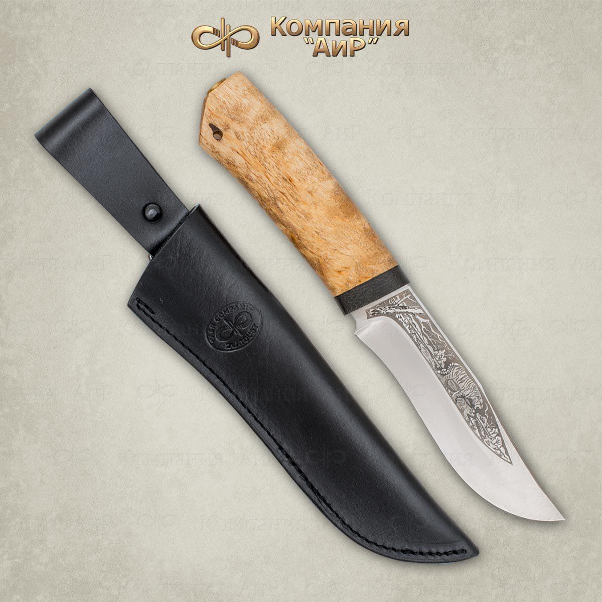 Фото - Нож разделочный АиР Клычок-3, сталь Elmax, рукоять карельская береза нож разделочный аир финка 3 сталь эп 766 рукоять карельская береза