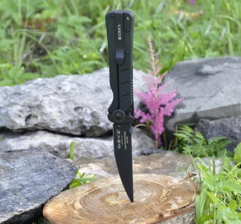 Фото 6 - Складной нож Otanashi noh Ken™ - CRKT 2906, сталь AUS-8 Black Finish, рукоять стеклотекстолит G10