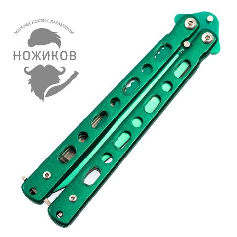 Нож-бабочка (балисонг) зеленый. Вид 3