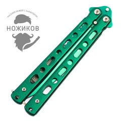 Нож-бабочка (балисонг) зеленый, фото 3