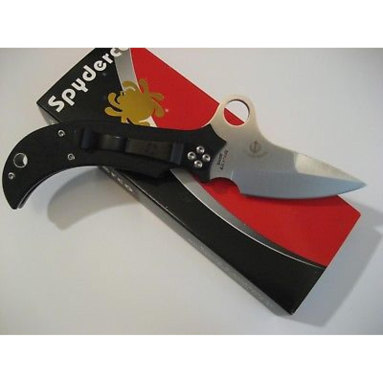 Фото 10 - Нож складной Jot Singh Khalsa Sprint Run - Spyderco 40GP, сталь VG-10 Satin Plain, рукоять стеклотекстолит G10 чёрный