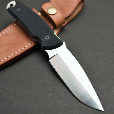 Туристический нож G.Sakai, Green Hunter Fixed, сталь VG-10, черный G-10, в подарочной картонной коробке. Вид 4