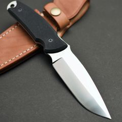 Туристический нож G.Sakai, Green Hunter Fixed, сталь VG-10, черный G-10, в подарочной картонной коробке, фото 4