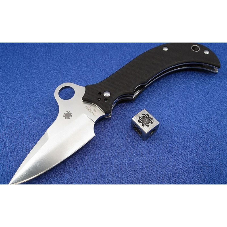 Фото 13 - Нож складной Jot Singh Khalsa Sprint Run - Spyderco 40GP, сталь VG-10 Satin Plain, рукоять стеклотекстолит G10 чёрный