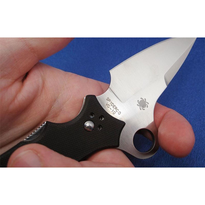Фото 14 - Нож складной Jot Singh Khalsa Sprint Run - Spyderco 40GP, сталь VG-10 Satin Plain, рукоять стеклотекстолит G10 чёрный