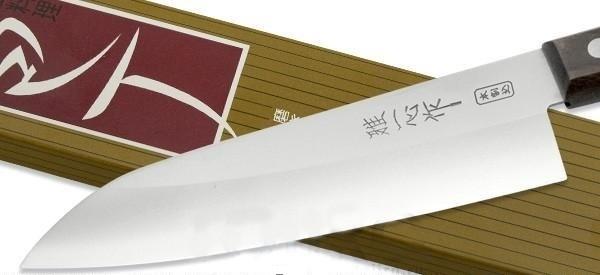 Фото 9 - Нож Шефа Kanetsugu Special Offer, 2004, розовое дерево, сталь AUS-8, в картонной коробке от Tojiro