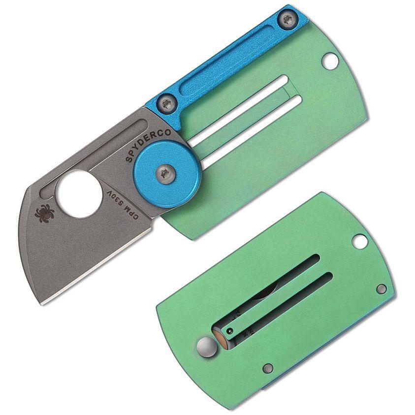 Фото 8 - Складной нож-брелок Dog Tag Folder - Spyderco С188ALTIP, сталь CPM S30V, рукоять титан/алюминий
