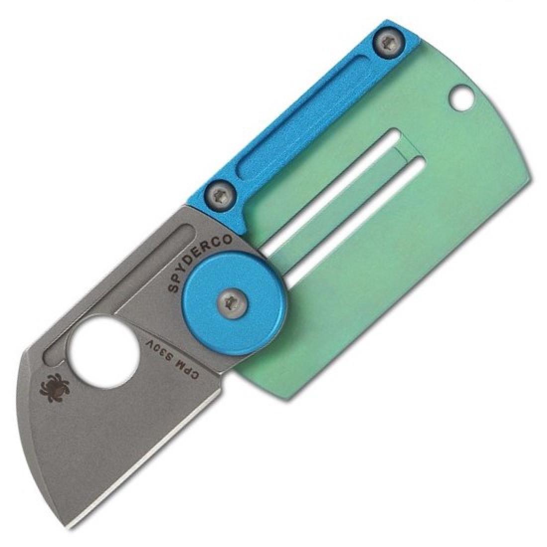 Складной нож-брелок Dog Tag Folder - Spyderco С188ALTIP, сталь CPM S30V, рукоять титан/алюминий