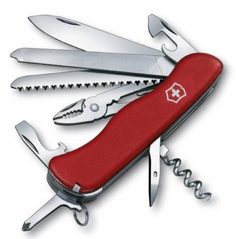 Нож перочинный Victorinox Tradesman 0.9053 с фиксатором лезвия 18 функций красный - Nozhikov.ru