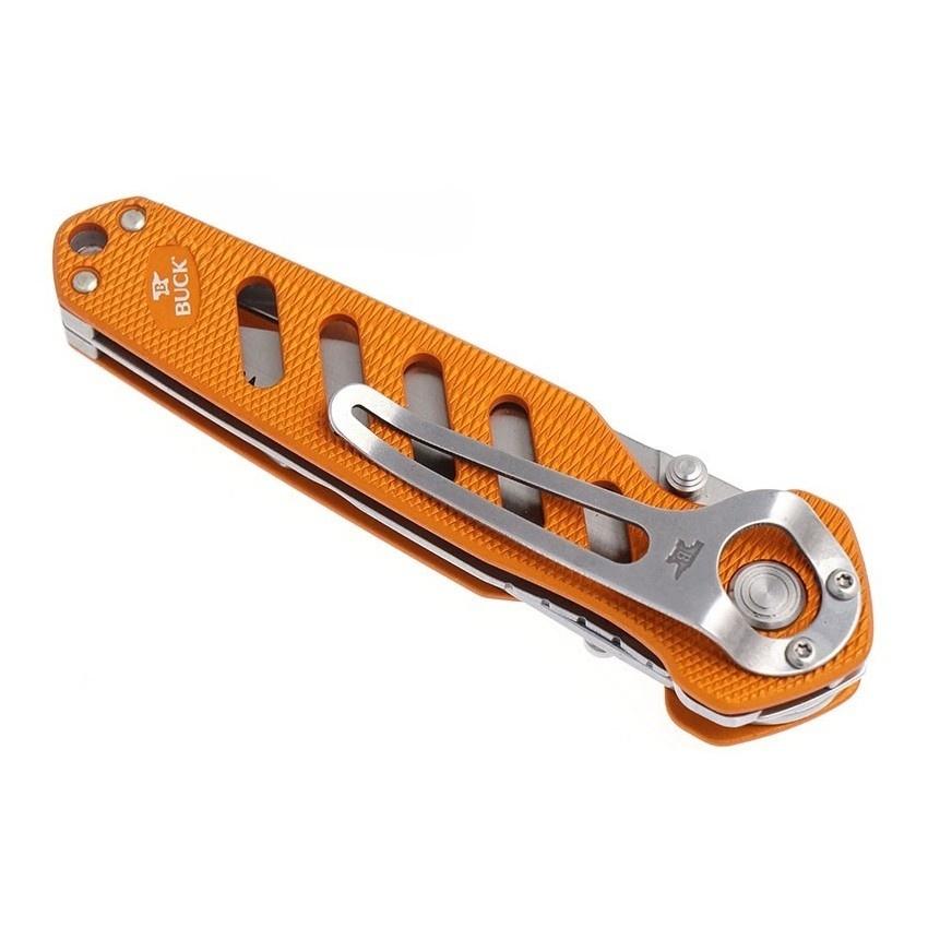 Фото 9 - Нож складной 183 Alpha Crosslock - BUCK 0183ORS, сталь 420HC, рукоять алюминий, оранжевый