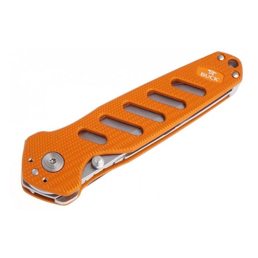 Фото 10 - Нож складной 183 Alpha Crosslock - BUCK 0183ORS, сталь 420HC, рукоять алюминий, оранжевый