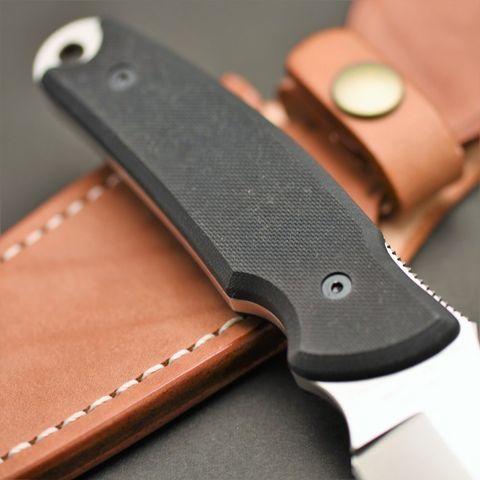 Туристический нож G.Sakai, Green Hunter Fixed, сталь VG-10, черный G-10, в подарочной картонной коробке. Вид 5