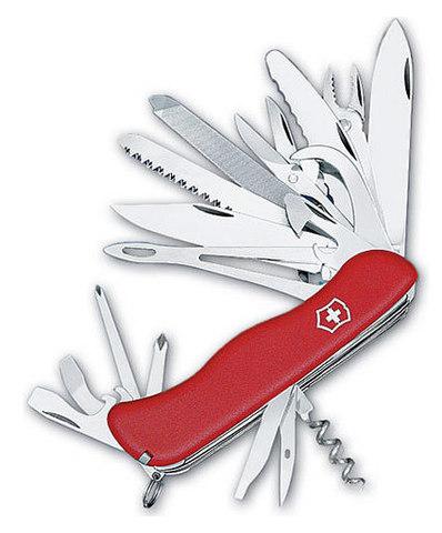 Нож перочинный Victorinox WorkChamp XL 0.9064.XL с фиксатором лезвия 30 функций  красный - Nozhikov.ru