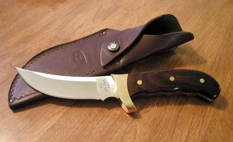 Фото 10 - Нож туристический 401 Kalinga - BUCK 0401RWS, сталь 420HC, рукоять древесный пластик (дерево палисандр)