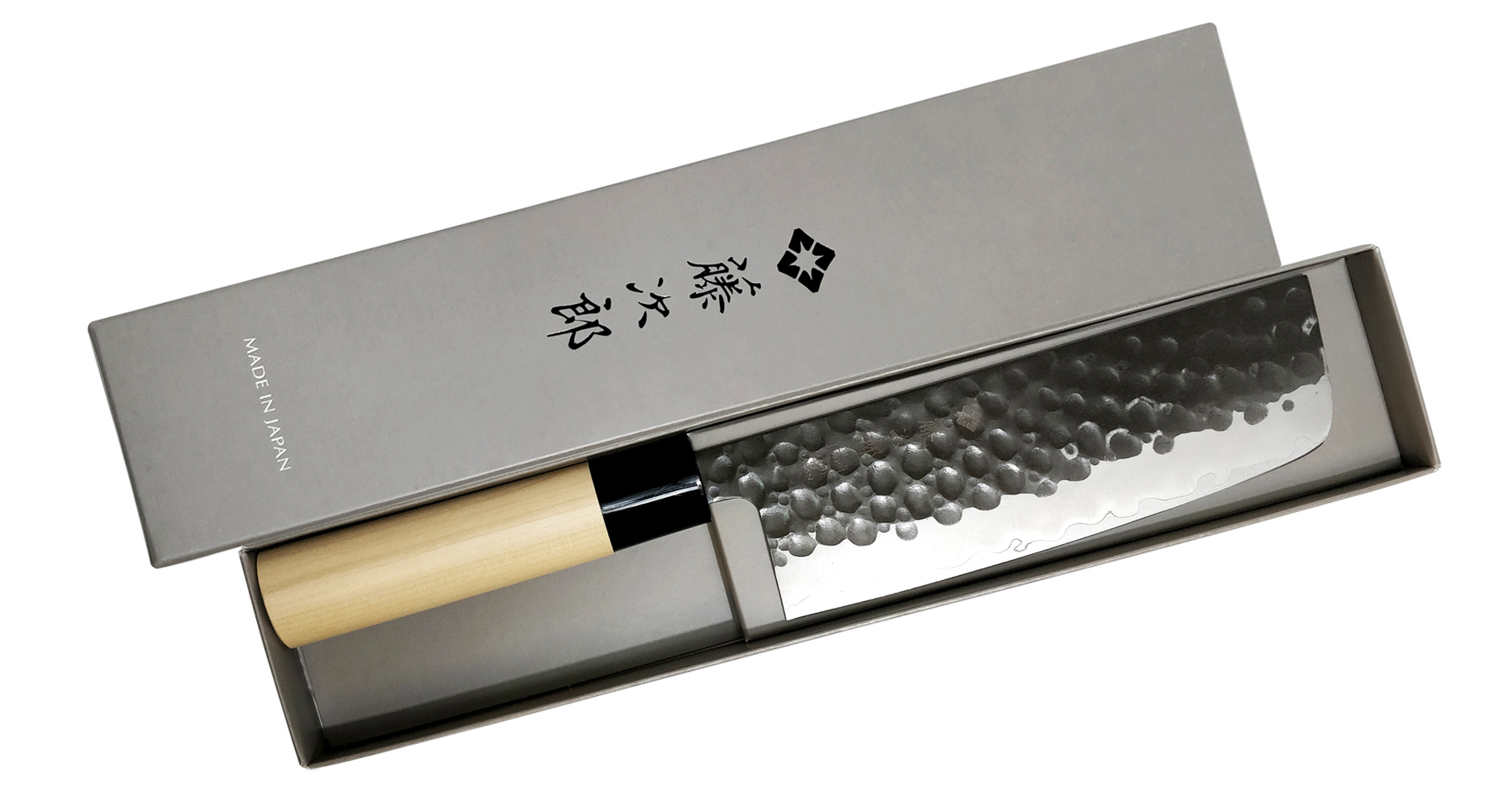 Фото 5 - Кухонный нож для овощей Накири, Hammered Finish, TOJIRO, F-1113, сталь VG-10, в картонной коробке