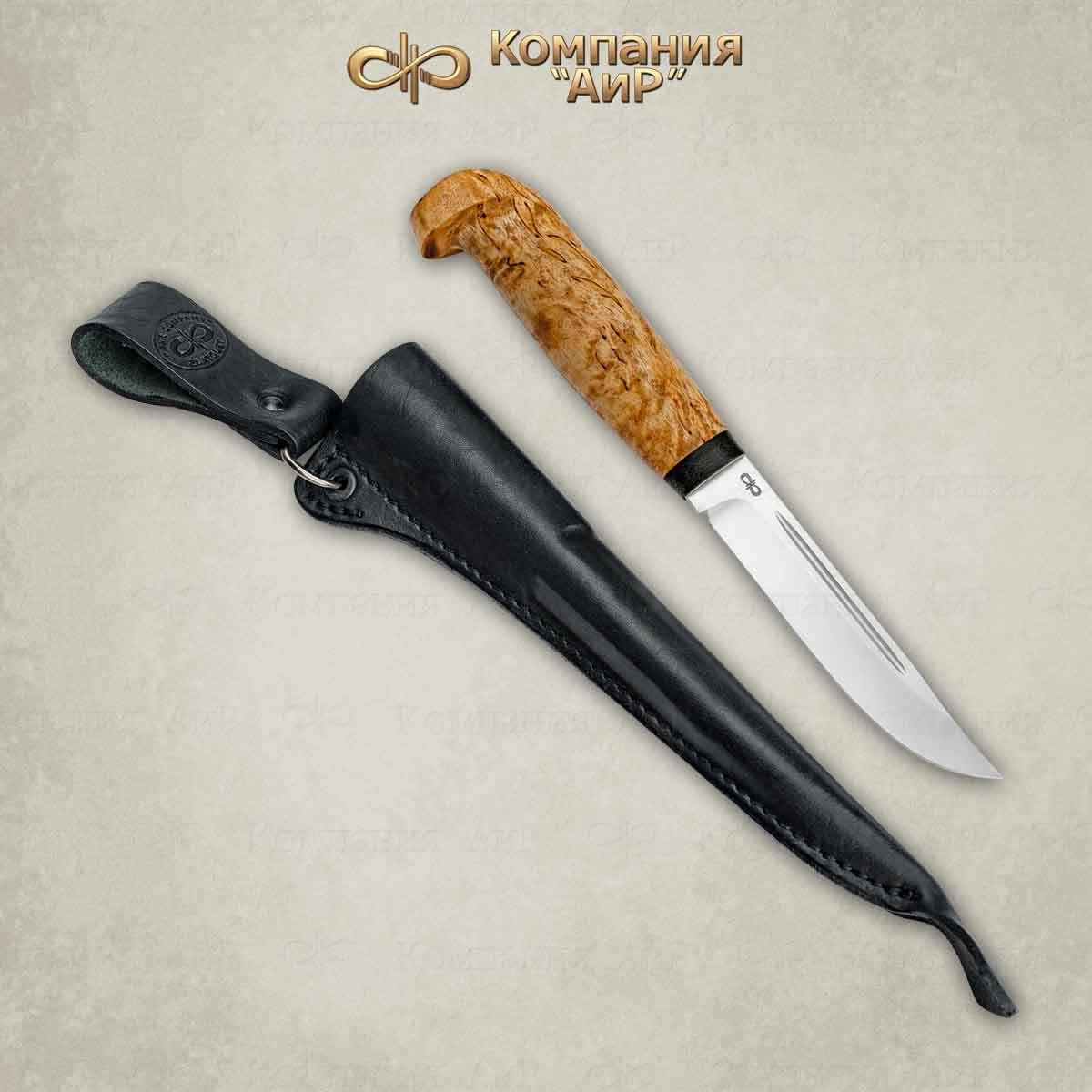Фото - Нож АиР Финка Лаппи, сталь ЭП-766, рукоять карельская береза нож разделочный аир финка 3 сталь эп 766 рукоять карельская береза
