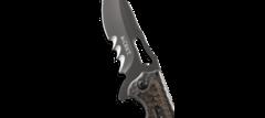Складной нож CRKT FOSSIL™ WITH VEFF SERRATIONS™, сталь 8Cr13MoV, рукоять нержавеющая сталь, накладки G10, фото 5