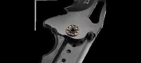 Складной нож CRKT FOSSIL™ WITH VEFF SERRATIONS™, сталь 8Cr13MoV, рукоять нержавеющая сталь, накладки G10. Вид 6