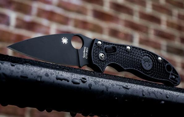 Фото 8 - Нож складной Manix 2 Spyderco C101PBBK2, сталь Carpenter CTS™ - BD1 Alloy Black DLC Coated Plain, рукоять пластик FRCP, чёрный