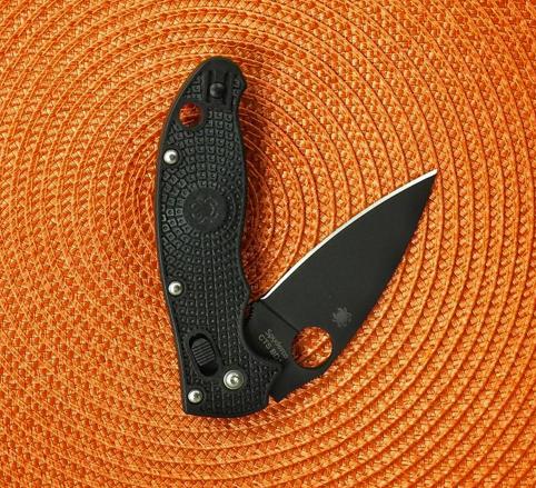 Фото 9 - Нож складной Manix 2 Spyderco C101PBBK2, сталь Carpenter CTS™ - BD1 Alloy Black DLC Coated Plain, рукоять пластик FRCP, чёрный