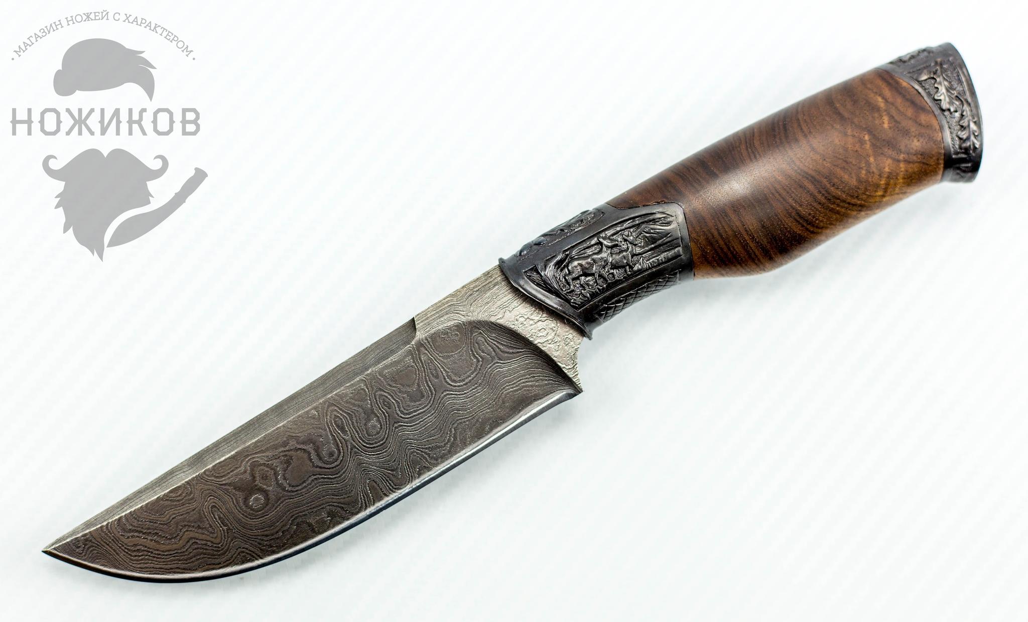 Авторский Нож из Дамаска №85, Кизляр