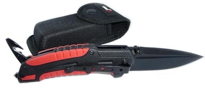Фото 14 - Нож складной Savior 1 - Boker Plus 01BO320, сталь Sandvik™ 12С27 EDP, рукоять термопластик FRP, чёрно-красный