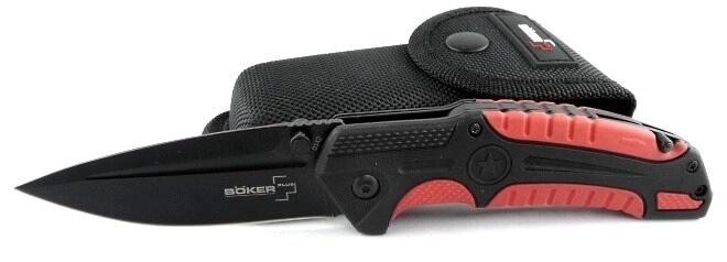 Фото 12 - Нож складной Savior 1 - Boker Plus 01BO320, сталь Sandvik™ 12С27 EDP, рукоять термопластик FRP, чёрно-красный