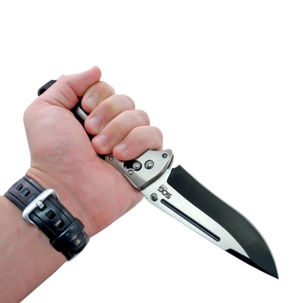 Фото 10 - Складной нож FatCat Limited Edition - SOG FC01, сталь VG-10, рукоять Kraton® (резина)