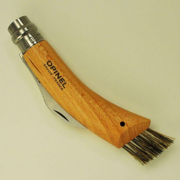 Фото 9 - Нож грибника складной Opinel №8, нержавеющая сталь Sandvik 12C27, рукоять бук, блистер, 001250