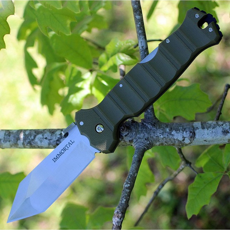 Фото 5 - Складной нож Cold Steel Immortal OD Green 23GVG, сталь CTS XHP, рукоять G-10