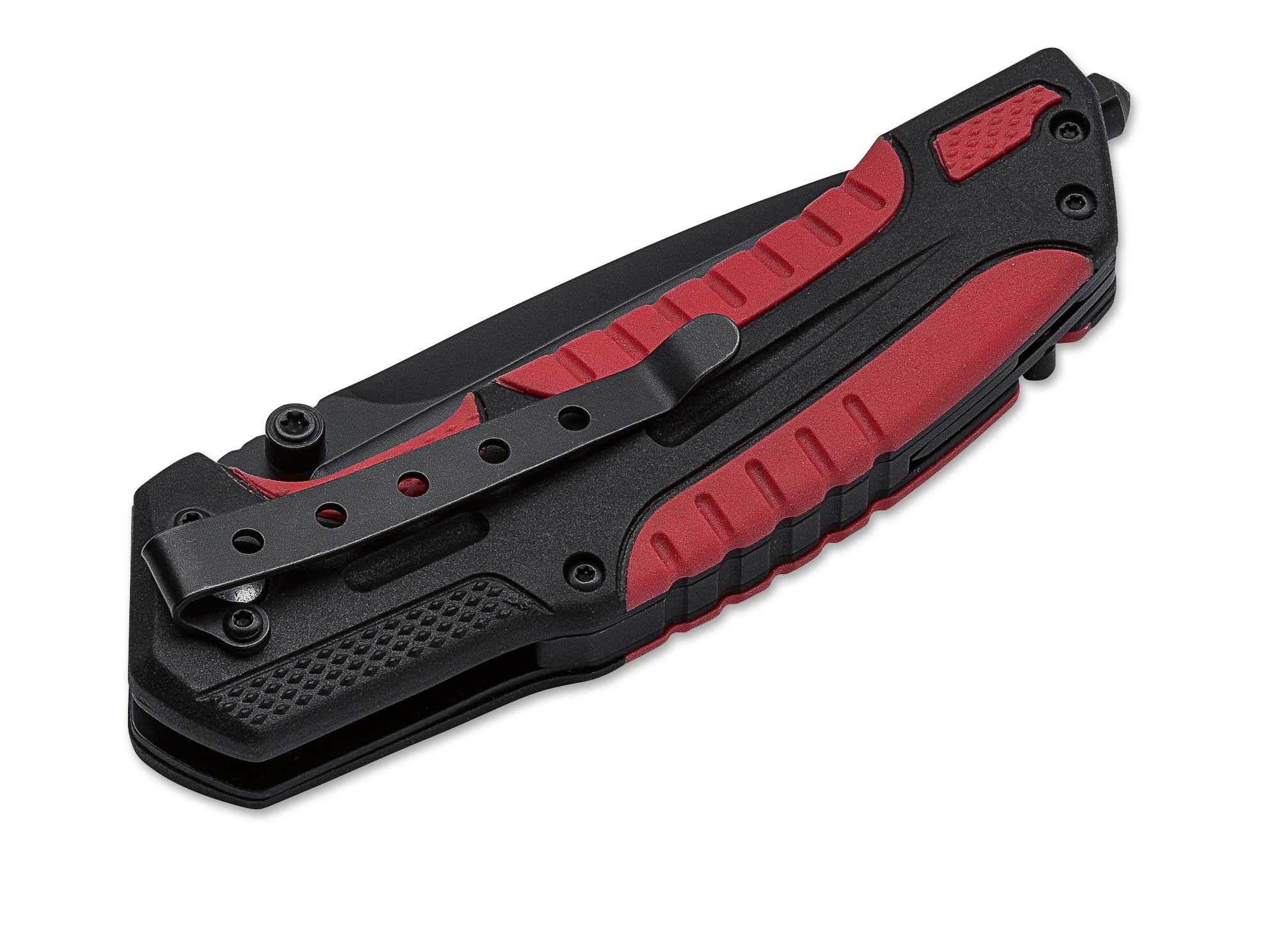 Фото 9 - Нож складной Savior 1 - Boker Plus 01BO320, сталь Sandvik™ 12С27 EDP, рукоять термопластик FRP, чёрно-красный