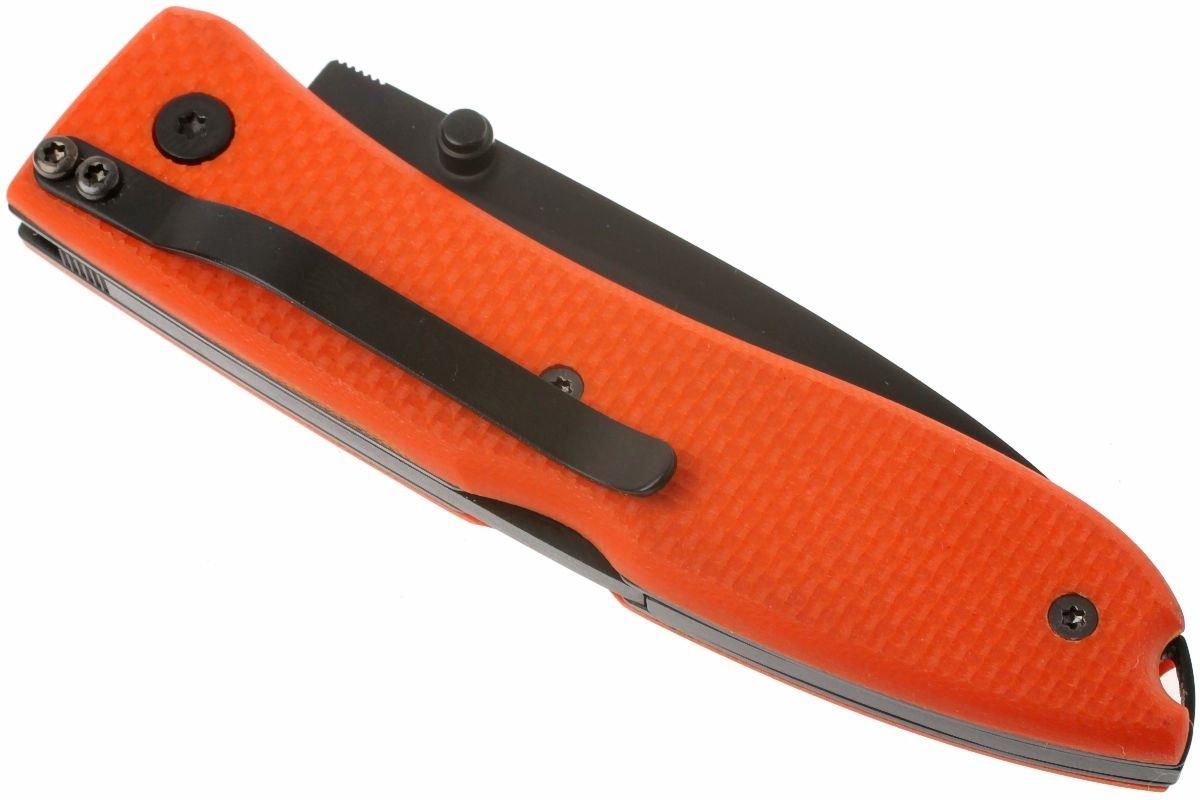 Фото 4 - Нож складной LionSteel 8800B OR Opera, сталь Black Finish D2 Tool Steel, рукоять стеклотекстолит G-10, оранжевый от Lion Steel