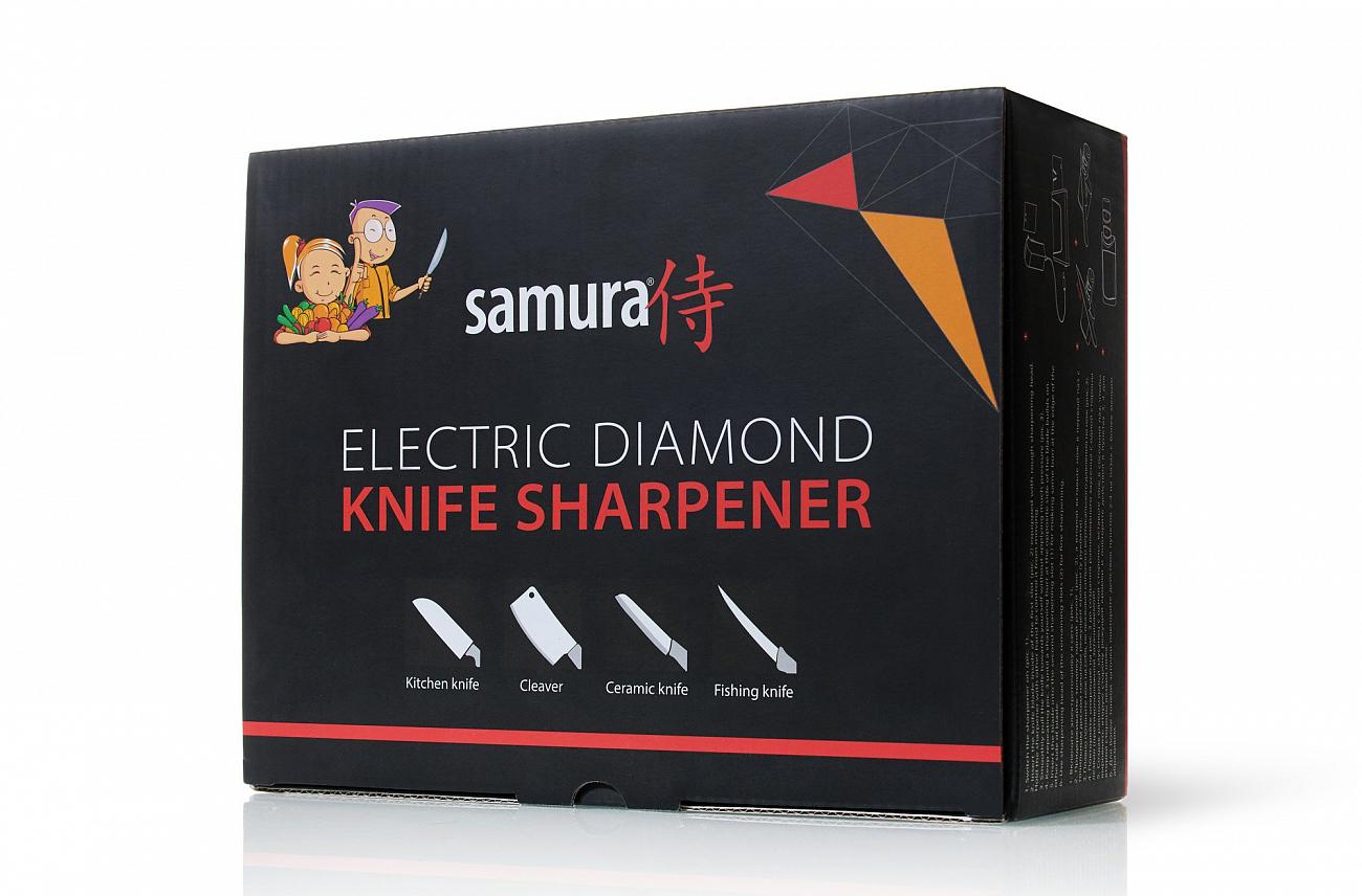 Фото 4 - Электрическая алмазная точилка для стальных ножей Samura SEC-2000