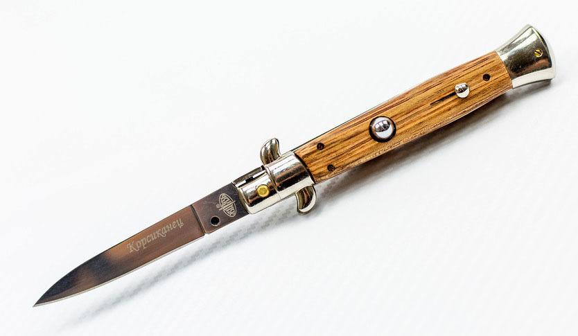 Выкидной нож Корсиканец, дерево, Витязь