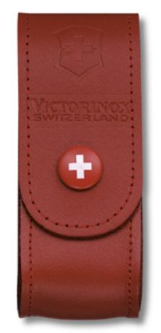 Чехол Victorinox 4.0520.1B1 кожаный для ножей 91мм 2-4 уровня в блистере красный