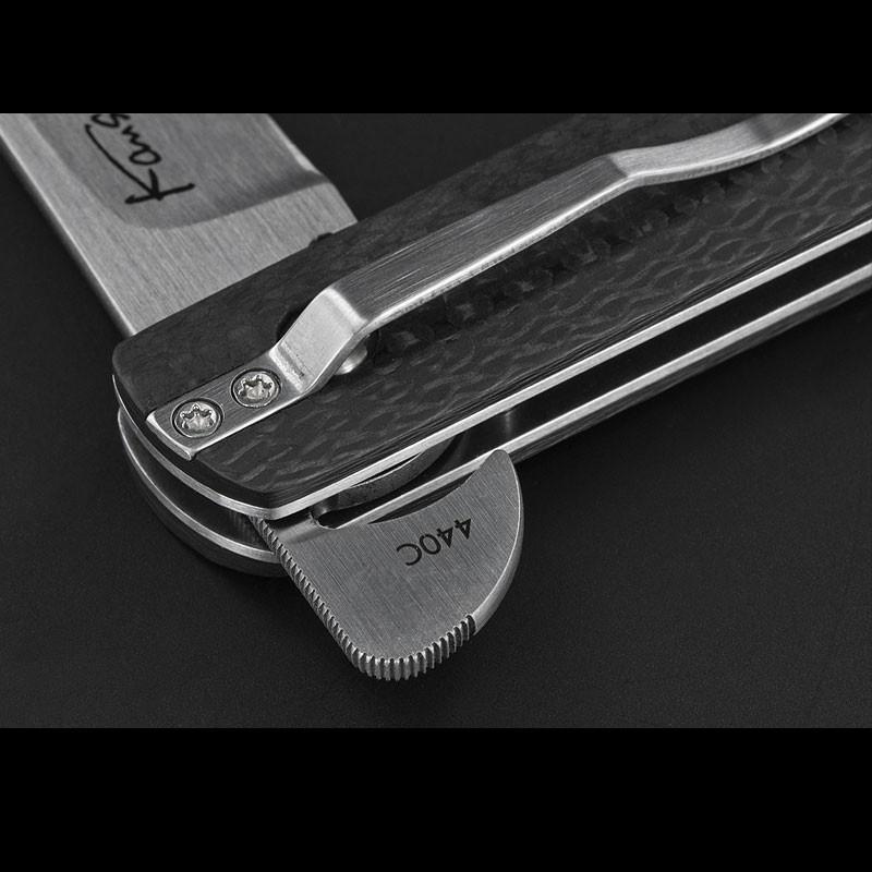 Фото 7 - Складной нож Wasabi CF - Boker Plus 01BO632, лезвие сталь 440C Satin, рукоять карбон, чёрный