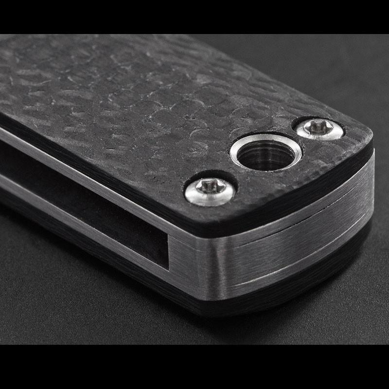 Фото 8 - Складной нож Wasabi CF - Boker Plus 01BO632, лезвие сталь 440C Satin, рукоять карбон, чёрный